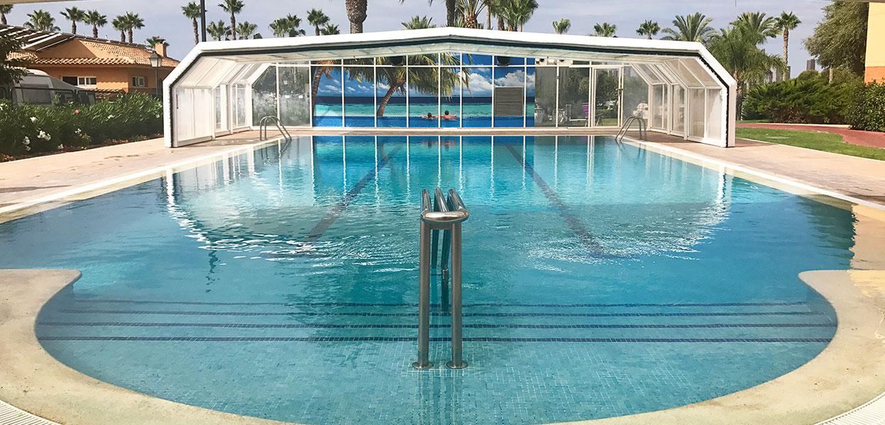 Camping abierto todo el a o vive tus vacaciones for Temperatura piscina climatizada