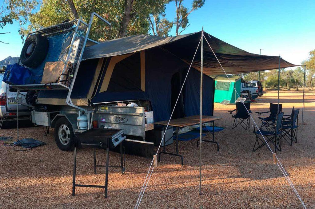 Foldable caravans