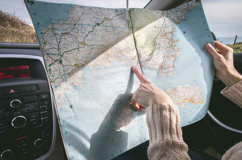 Plan your route to travel in caravan