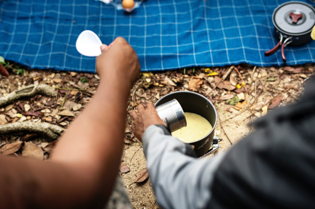Material camping comida