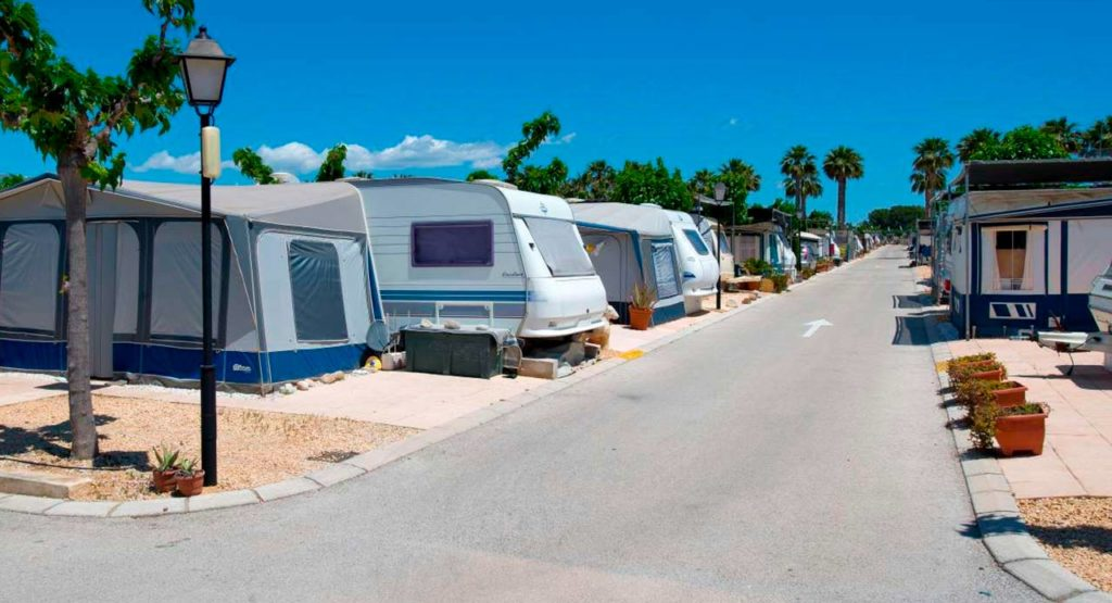 living on a campsite in benidorm