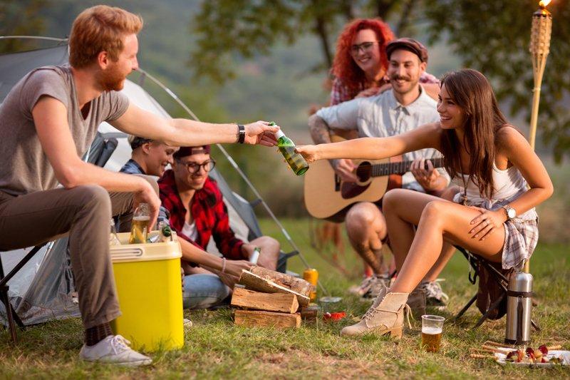 Nevera de camping.